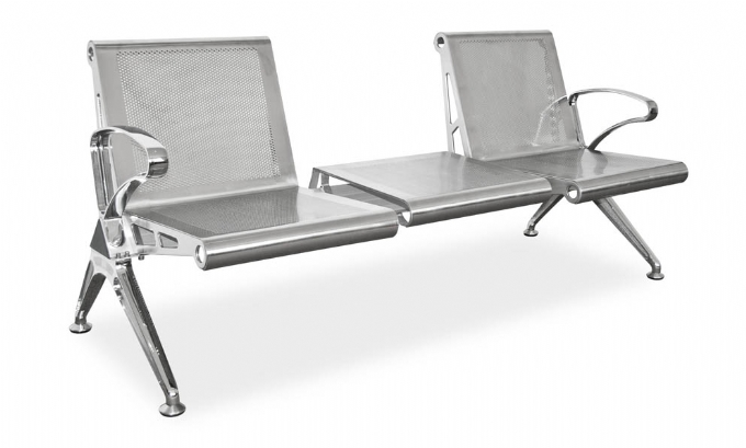 public-seating-2-seater-stainless-steel-with-table