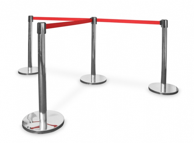 public-seating-Queue-stand-with-red-belt-and-stainless-steel
