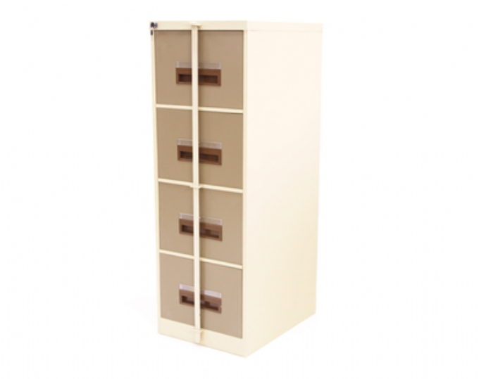 steel-storage-4-Draw-filing-cabinet-with-security-bar