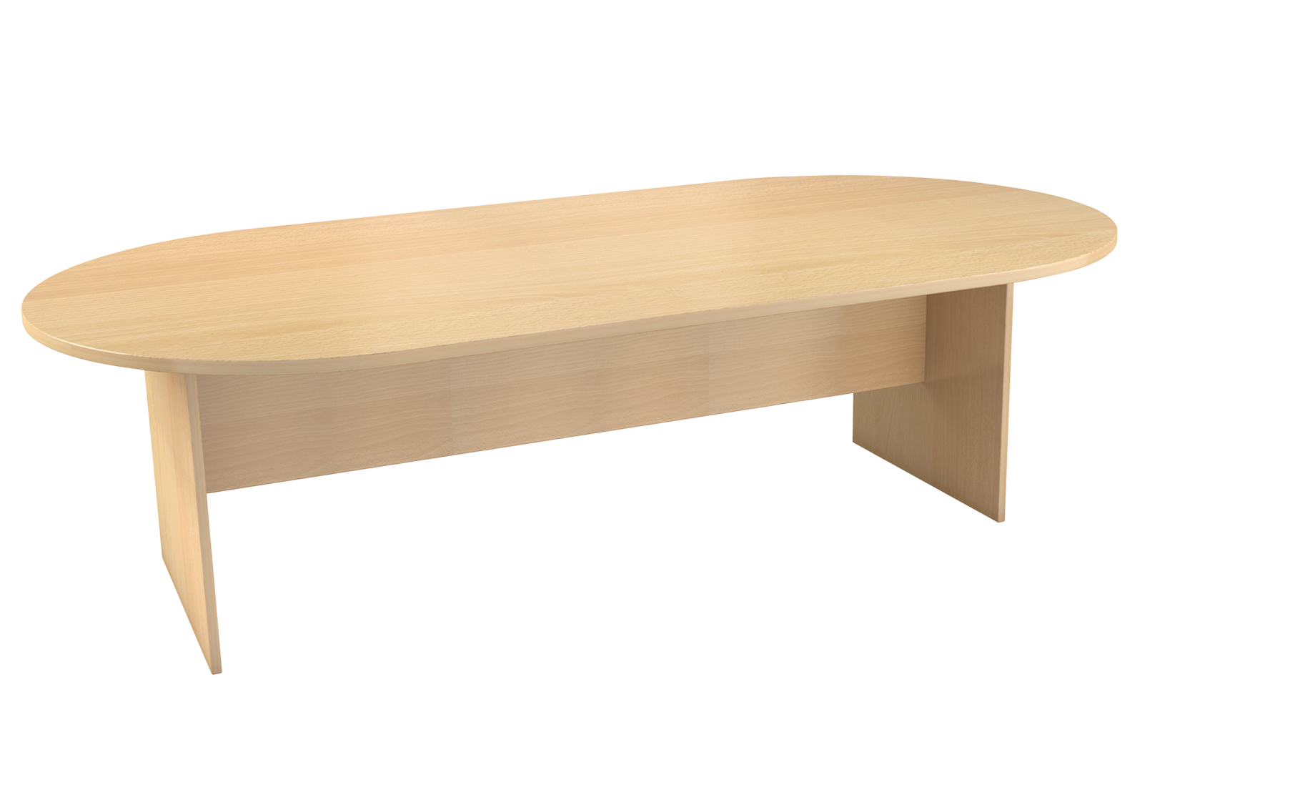 oval boardroom table available in melamine various sizes