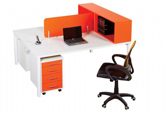 Euro Desk Range In Orange Oxford Office Furniture