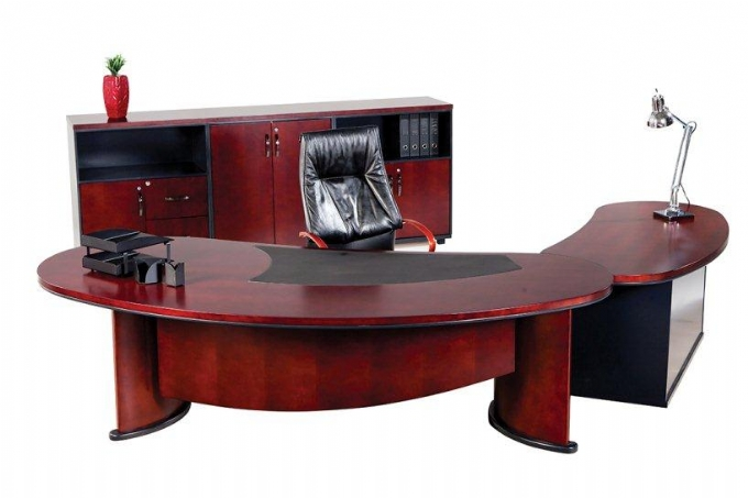 Capri Desk in Mahogany Veneer | Oxford Office Furniture