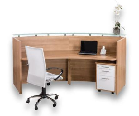 reception counter veneer or melamine oxford office furniture