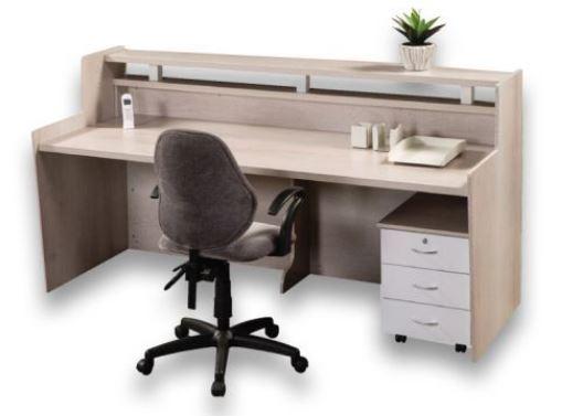 squareline straight reception counter melamine oxford
