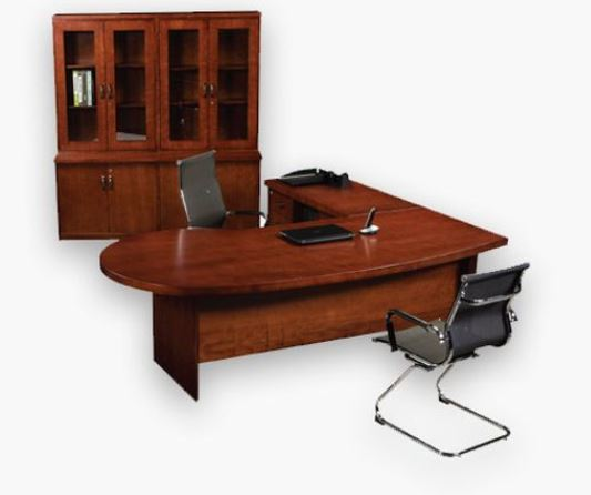 Miami Executive Desk With Conference End In Veneer Oxford Office Furniture